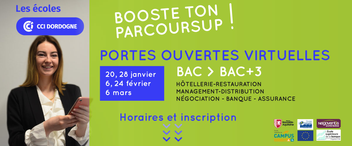 Journées Portes Ouvertes Virtuelles 2021 des Ecoles CCI Dordogne