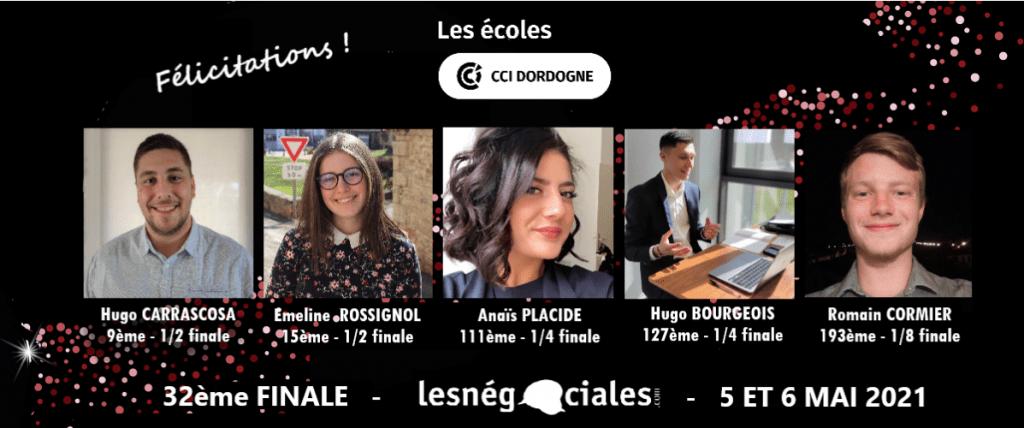 photo finalistes negociales 2021 écoles cci dordogne