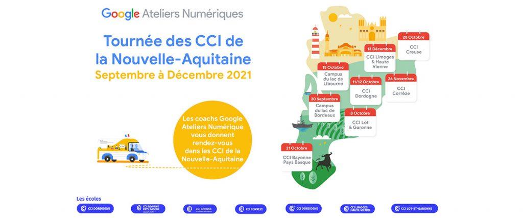 Le Google Tour passe par les Écoles CCI Dordogne